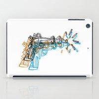 gun iPad Cases featuring Gun by Marcelo Romero