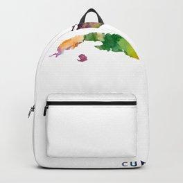 Cuba Map Backpack