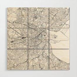 Dublin White Map Wood Wall Art