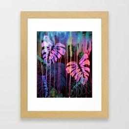 Drippy Jungle {acid} Framed Art Print