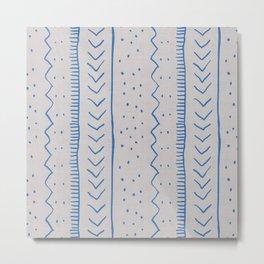 Moroccan Stripe in Cobalt Metal Print