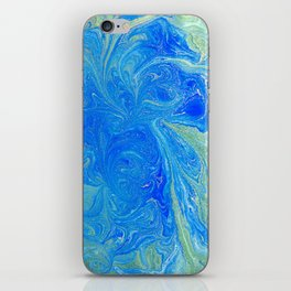 Blue & Green Watercolor iPhone Skin