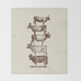 Cow Cow Nuts Throw Blanket