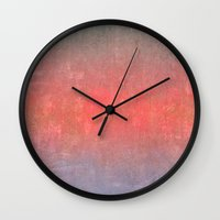 ombre Wall Clocks featuring Ombre by Kim Huff