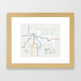 Future Minneapolis & St. Paul Transit Map  Framed Art Print