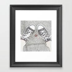 Sneaking Up On Love Framed Art Print
