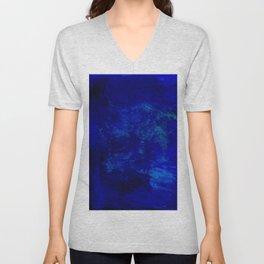 Blue Night- Abstract digital Art Unisex V-Neck