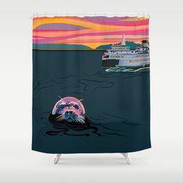 Silent Sailor Shower Curtain