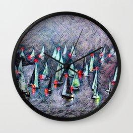 SAILBOAT BAY-Afterglow Wall Clock