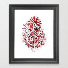 Music Key Cluster Framed Art Print