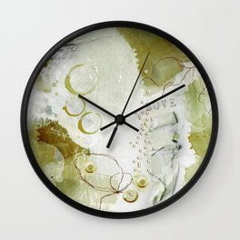 Abstract - Circulating - Richly Textured Design in Sage Green Wall Clock
