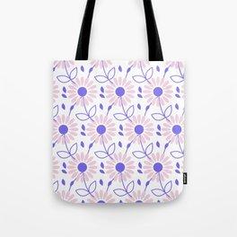 Pastel pink violet hand painted daisies floral pattern Tote Bag
