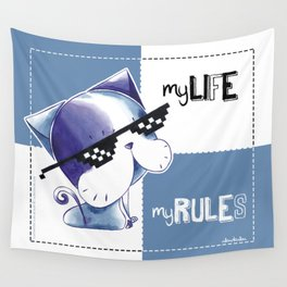 MY LIFE, MY RULES Wall Tapestry