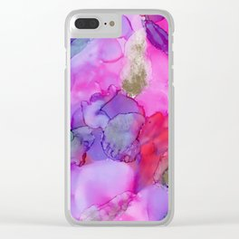 Alcohol Ink on Yupo Clear iPhone Case
