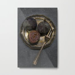 Still life with rotten figs Metal Print
