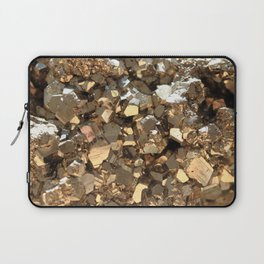 Golden Pyrite Mineral Laptop Sleeve