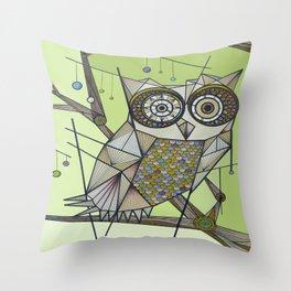 Sleeping's For The Birds! Throw Pillow