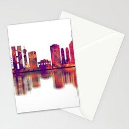 Fukuoka Japan Skyline Stationery Cards