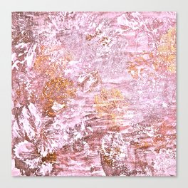 Abstract Autumn In Gold-Rosé Canvas Print