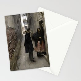 A Street in Venice by John Singer Sargent - Vintage Fine Art Oil Painting Stationery Cards