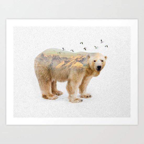 Wild I Shall Stay | Polar Bear Art Print