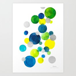 Flying bubbles/ bulles volantes Art Print