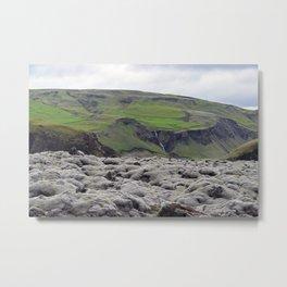Eldhraun Lava Field Metal Print
