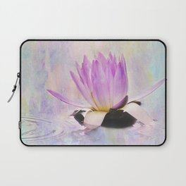 Painted Water Lily Laptop Sleeve