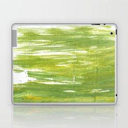 Moss green abstract watercolor Laptop & iPad Skin