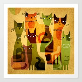 CAT HERD Art Print