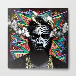 STREET ART--Rapper Metal Print