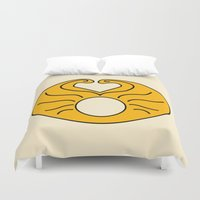 hedwig Duvet Covers featuring Hedwig Wig! by byebyesally