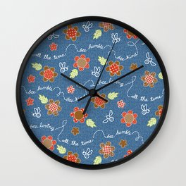 Bee Message - Coffee berry Wall Clock