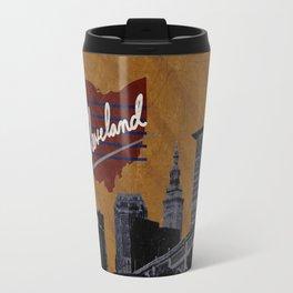 Cleveland Poster Travel Mug