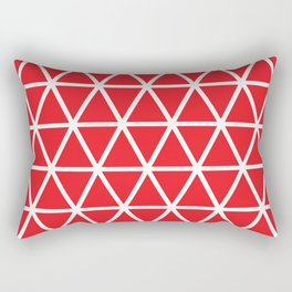 Red Triangle Pattern 3 Rectangular Pillow