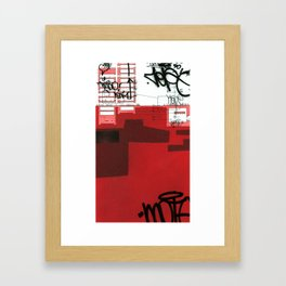 red series 1 Framed Art Print