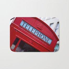 Retro Telephone Booth (#Retro #Telephone) Bath Mat