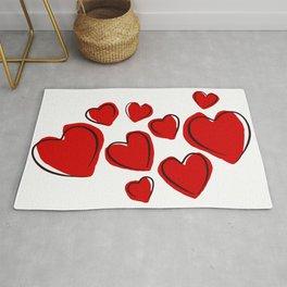 Valentine Hearts Love Romance Holidays. Rug