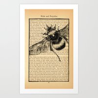 pride and prejudice Art Prints featuring Pride & Prejudice, Page 51 by Rebecca Loomis