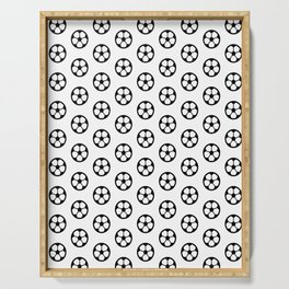 Simple Soccer Ball Motif Pattern Serving Tray