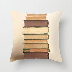 Reading Pile Throw Pillow