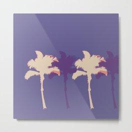 Alabaster Palm Tree Stamp Metal Print