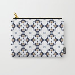 EVA - Pearl and Maude | Sapphire Blue White Golden Color Art Deco Pattern Carry-All Pouch
