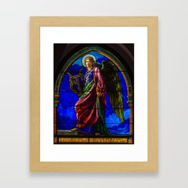 "John La Farge ""The Angel Holding a Lyre (or The Harpist)"" window Framed Art Print"