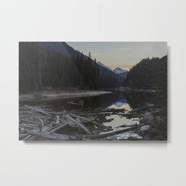 Sunrise at Lillooet Lake Metal Print