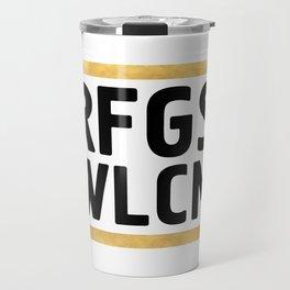 RFGS WLCM - Refugees Welcome Travel Mug