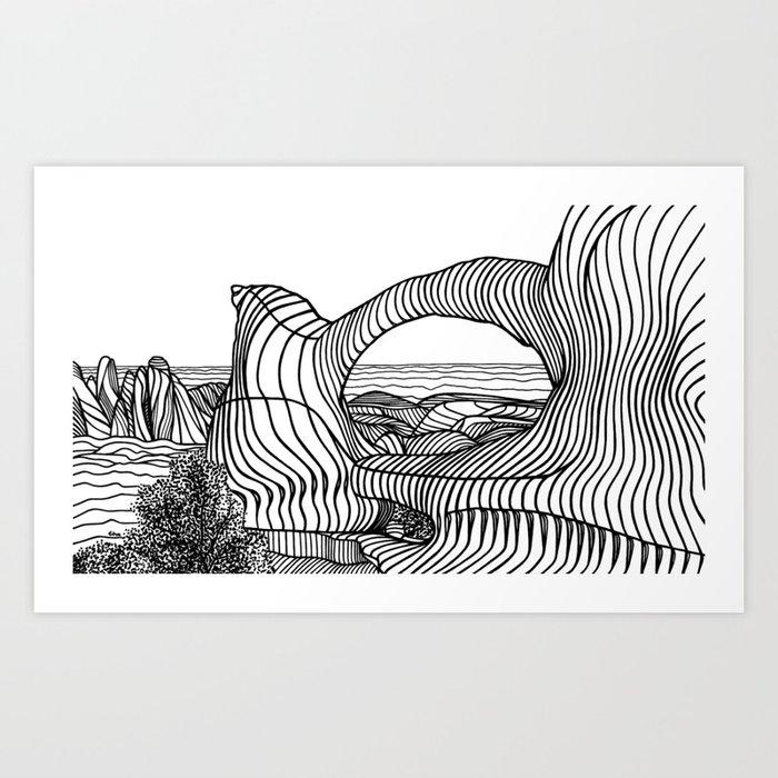 Double O Arch Art Print