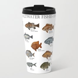 Saltwater Fishes of San Diego Travel Mug