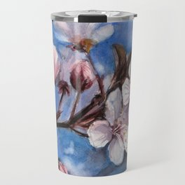 Cherry Blossoms Watercolor Spring Flowers Travel Mug