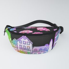 Colorful Town Fanny Pack